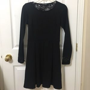 ⭐️2/$20 Forever 21 Black Lace Back Skater Dress